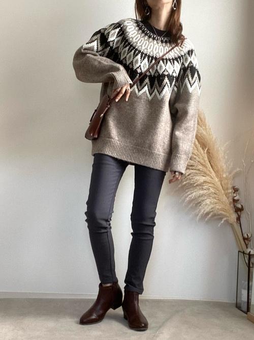 GUのローゲージセーター