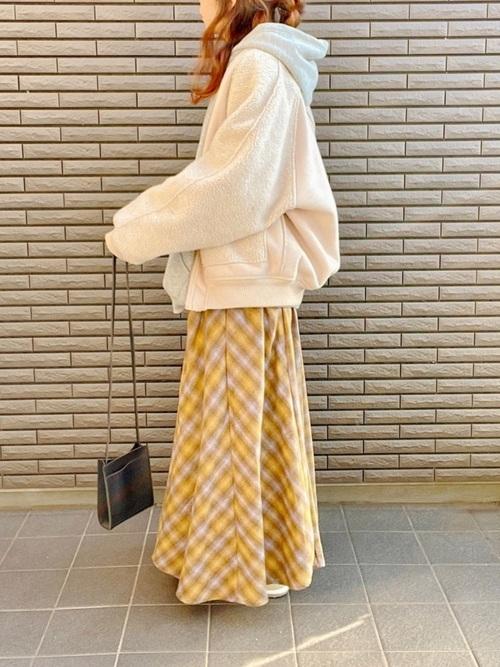 しまむらチェック柄スカート