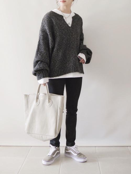 GUメランジキーネックセーター