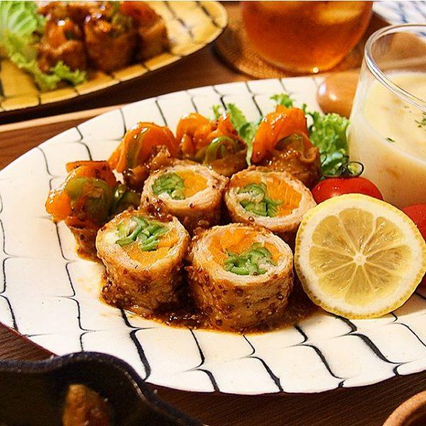 野菜たっぷり!カラフルピーマンの肉巻き