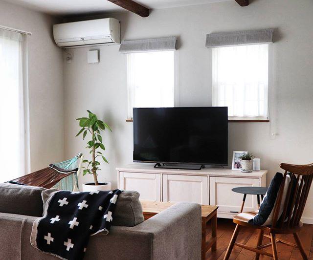 リラックス感溢れるテレビとソファの配置