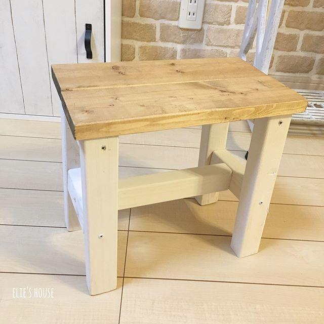 玄関にも置ける素敵な椅子DIY