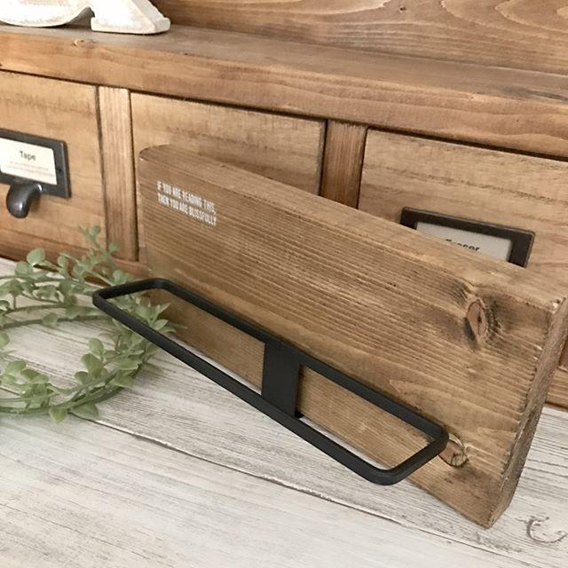 木材でタオルラックをDIY
