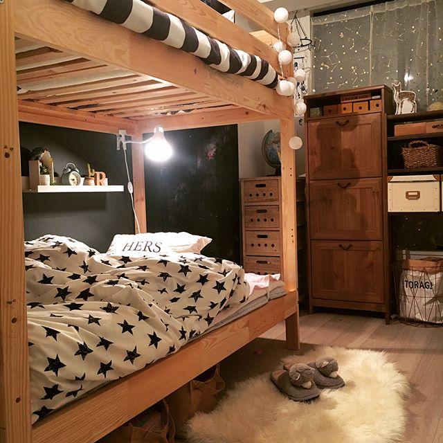 2段ベッドの下にはスポットライトがおすすめ