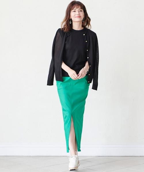 チノライクロングタイトスカート