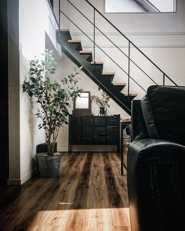 インダストリアル家具を使ったお部屋