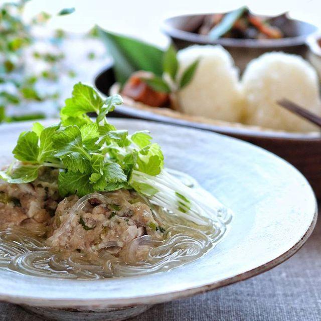 蕪入り肉団子の生姜スープ