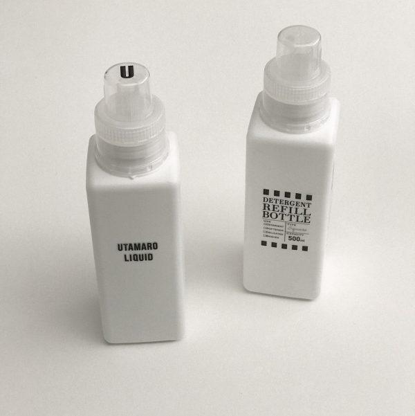 洗剤用ボトルにセリアのラベルシール