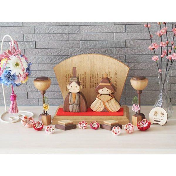 木製の雛人形で寝室に置く飾り方