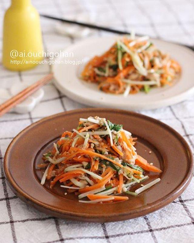 簡単美味しい♪ツナと野菜のホットサラダ