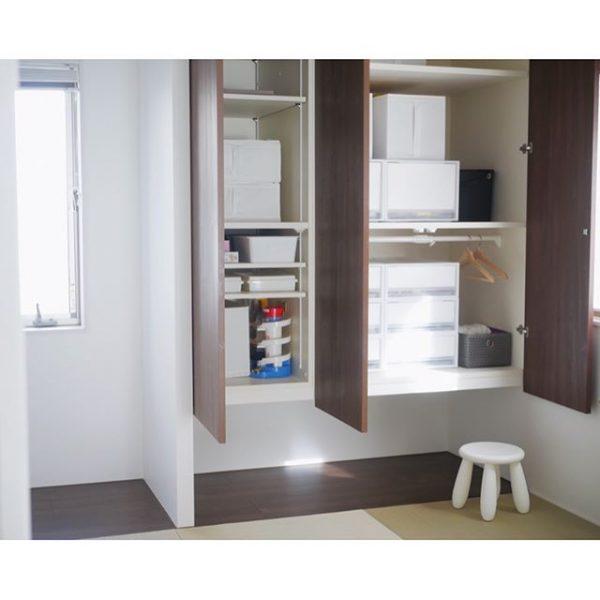 和室の吊り戸棚に活用する実例