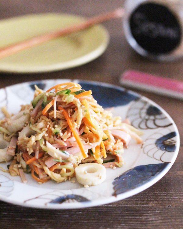 牡蠣鍋献立の付け合わせレシピ☆切干大根のサラダ