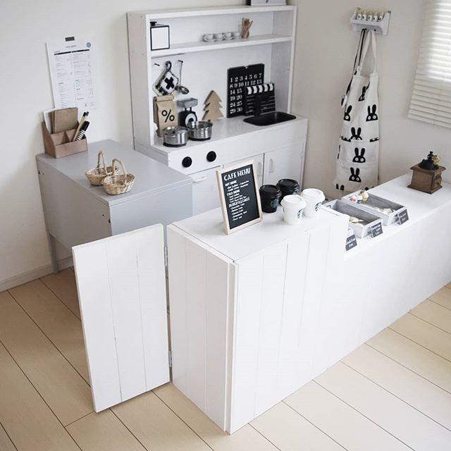 カウンターを設置した本格的なキッチン