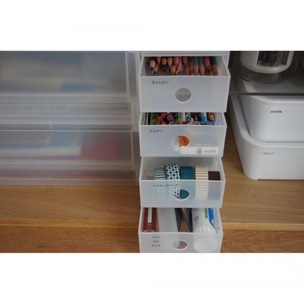 無印良品6段小物ボックスを使った戸棚内整理収納