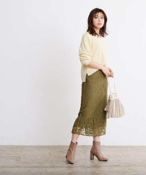 ur's] レースタイトスカート