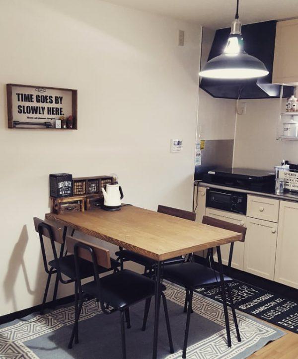 7畳向けダイニングキッチンレイアウト テーブル