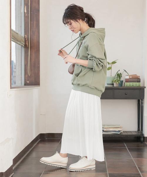 ロング丈/マキシ丈2typeサテンプリーツスカート