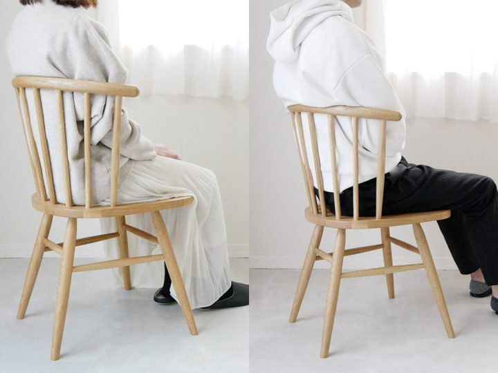 無垢材の椅子3