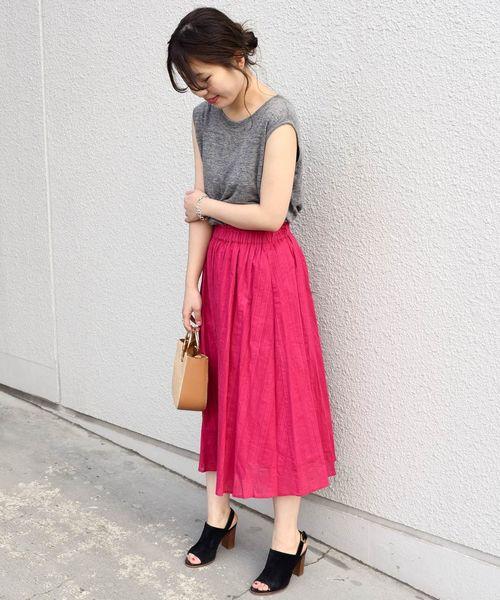 [SHIPS for women] Khaju:コットンドビースカート