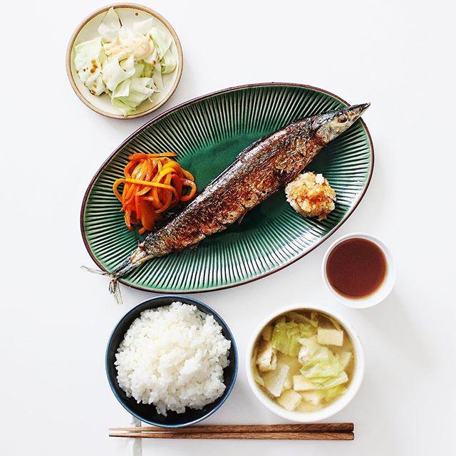 シンプルなお魚定食でミニマリスト食事