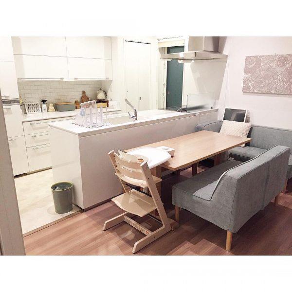 7畳向けダイニングキッチンレイアウト 椅子2