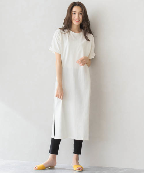 Pierrot スリット ロングTシャツ