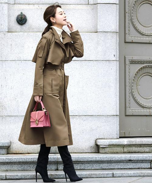 トレンチコートの秋ファッション