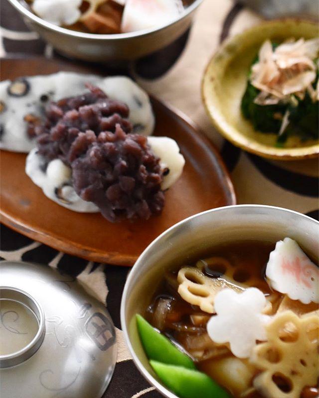 シンプルな美味しさ!簡単な豆餅の粒あんのせ