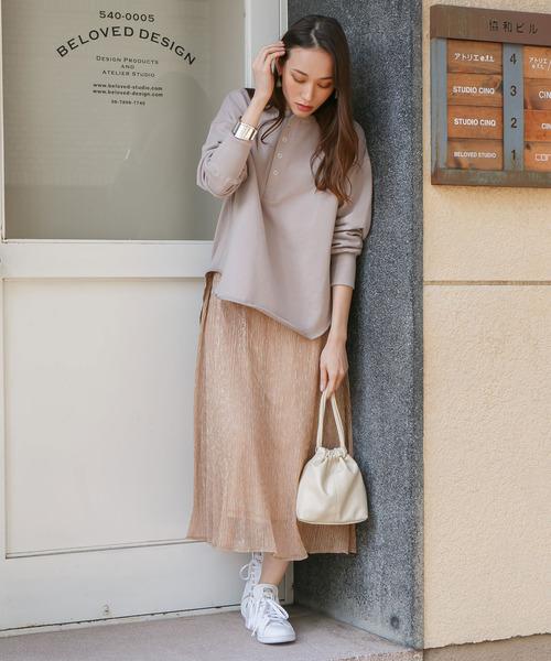 rectangle] ラメプリーツスカート