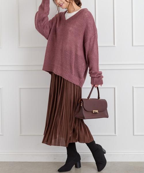 [SpRay] サテンプリーツスカート