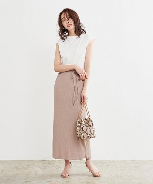 ur's] リブナロースカート