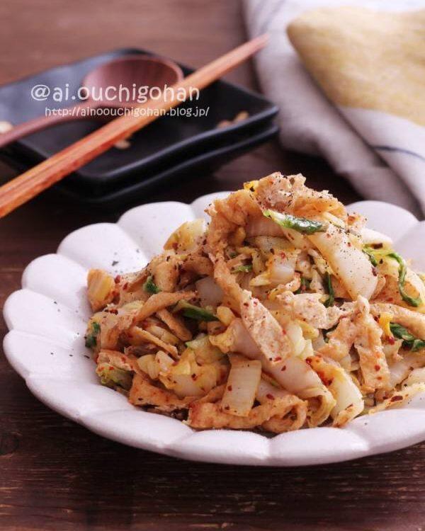 ピリ辛が牡蠣鍋に合う☆白菜の中華炒め