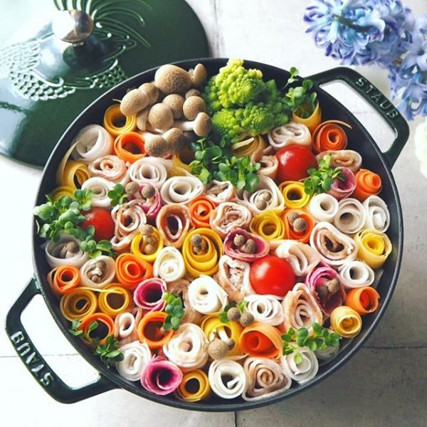 華やかなおしゃれ盛り!花畑鍋