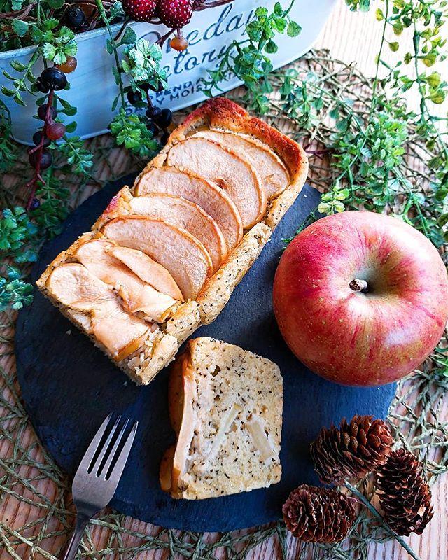 牛乳なしでりんごと紅茶のパウンドケーキ
