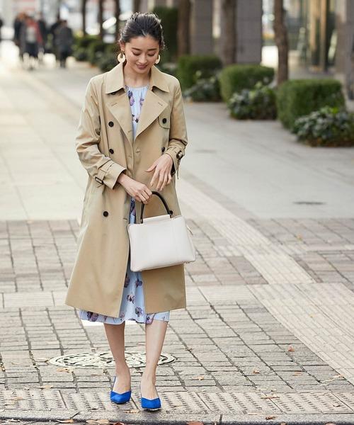 トレンチコートの春ファッション
