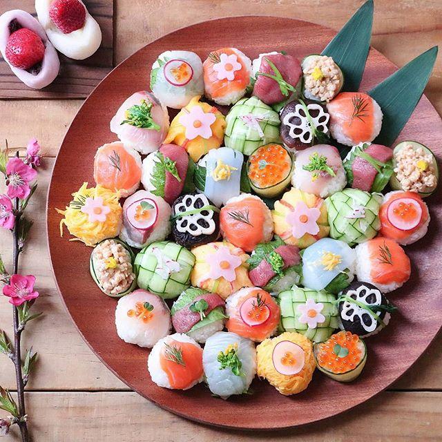 ひな祭りの人気メニュー!手まり寿司