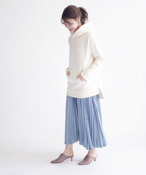 [SHIPS for women] サテンプリーツスカート
