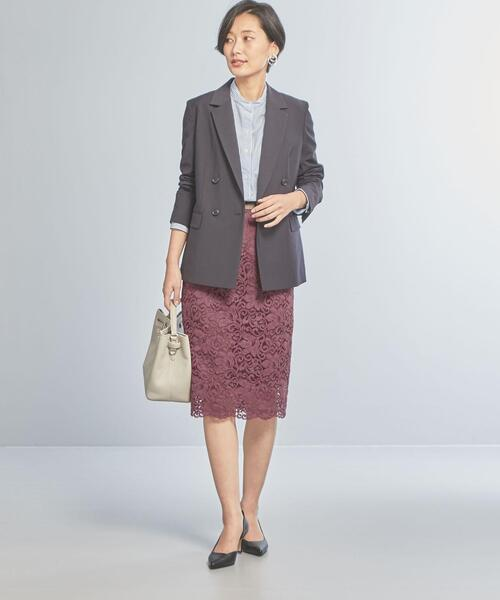 [green label relaxing] 【WORK TRIP OUTFITS】★WTO D C/N/PU レース ロング タイト