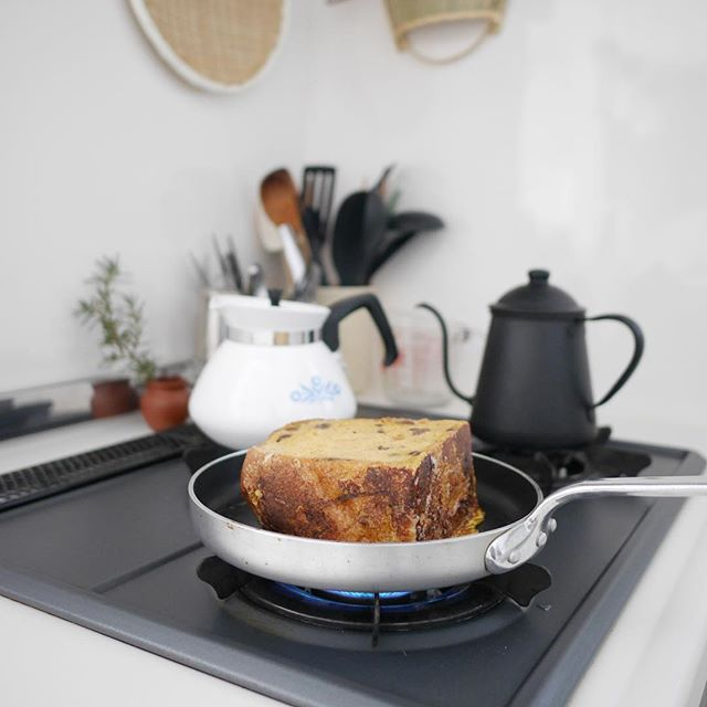 ラムレーズン食パンの簡単フレンチトースト