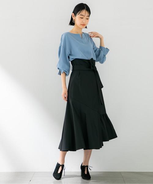 [STUDIOUS WOMENS] 【STUDIOUS】アシンメトリー セミフレアスカート