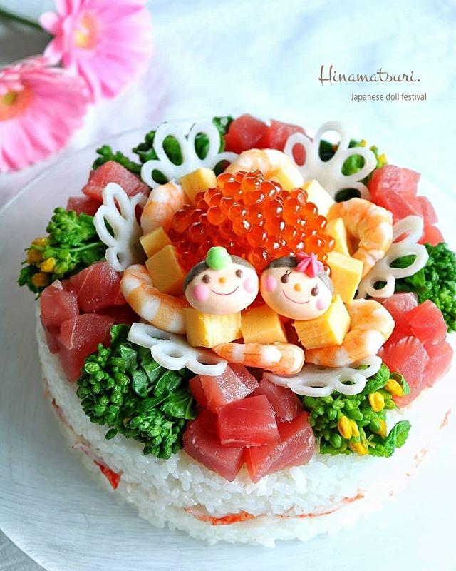 人気の献立!可愛いちらし寿司ケーキ
