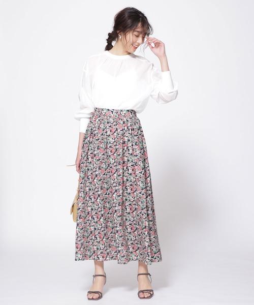 フラワーギャザーマキシスカート