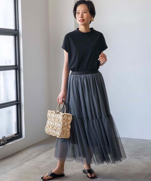 【WEB限定】チュールティアードスカート