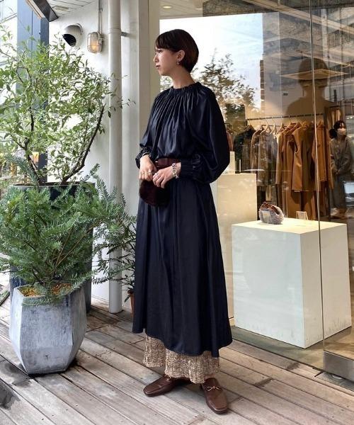 [TODAYFUL] ネックギャザードレス