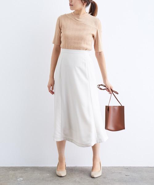 ViS] セミフレアミモレ丈スカート
