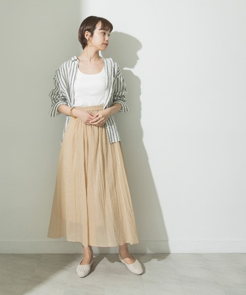 URBAN RESEARCH] シャイニーギャザースカート