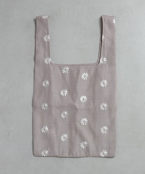 [natural couture] マーガレット刺繍エコバッグ