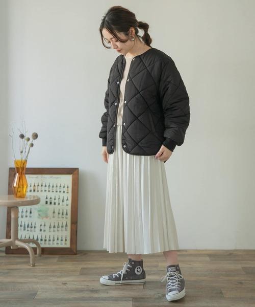 [ITEMS URBAN RESEARCH] 中綿キルティングノーカラージャケット
