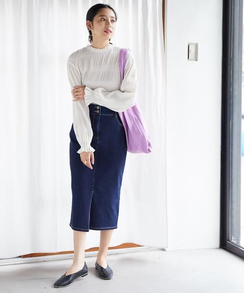 Iラインデニムスカート