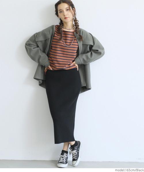 [coca] タイトリブニットスカート